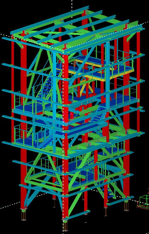Pernyekezelő technológiai torony